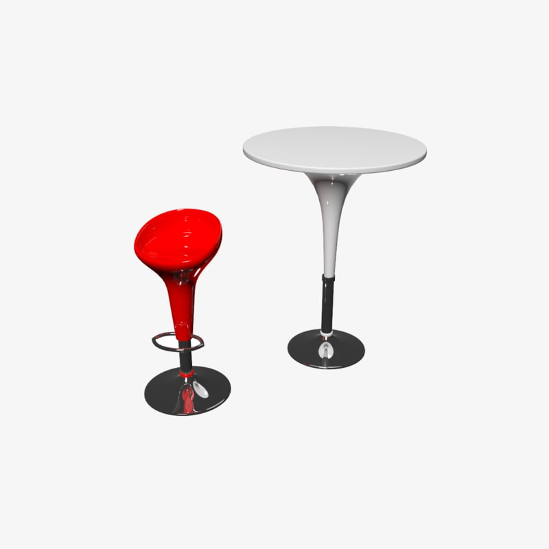 3d model barstool table