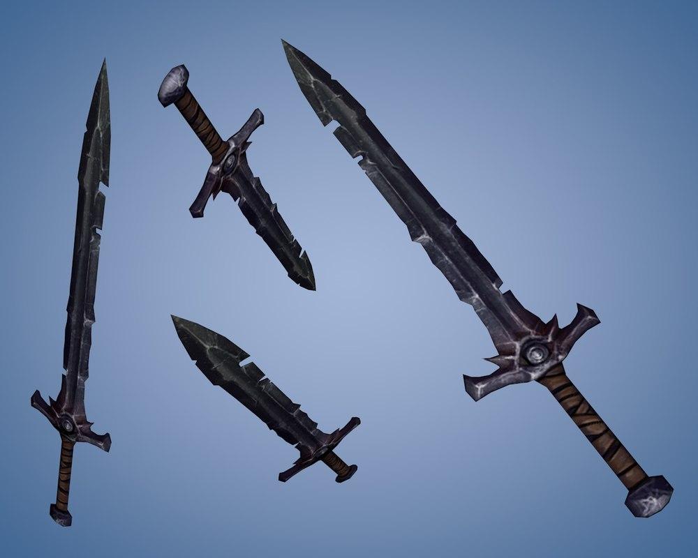 3d model medieval sword