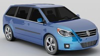 3d volkswagen routan model