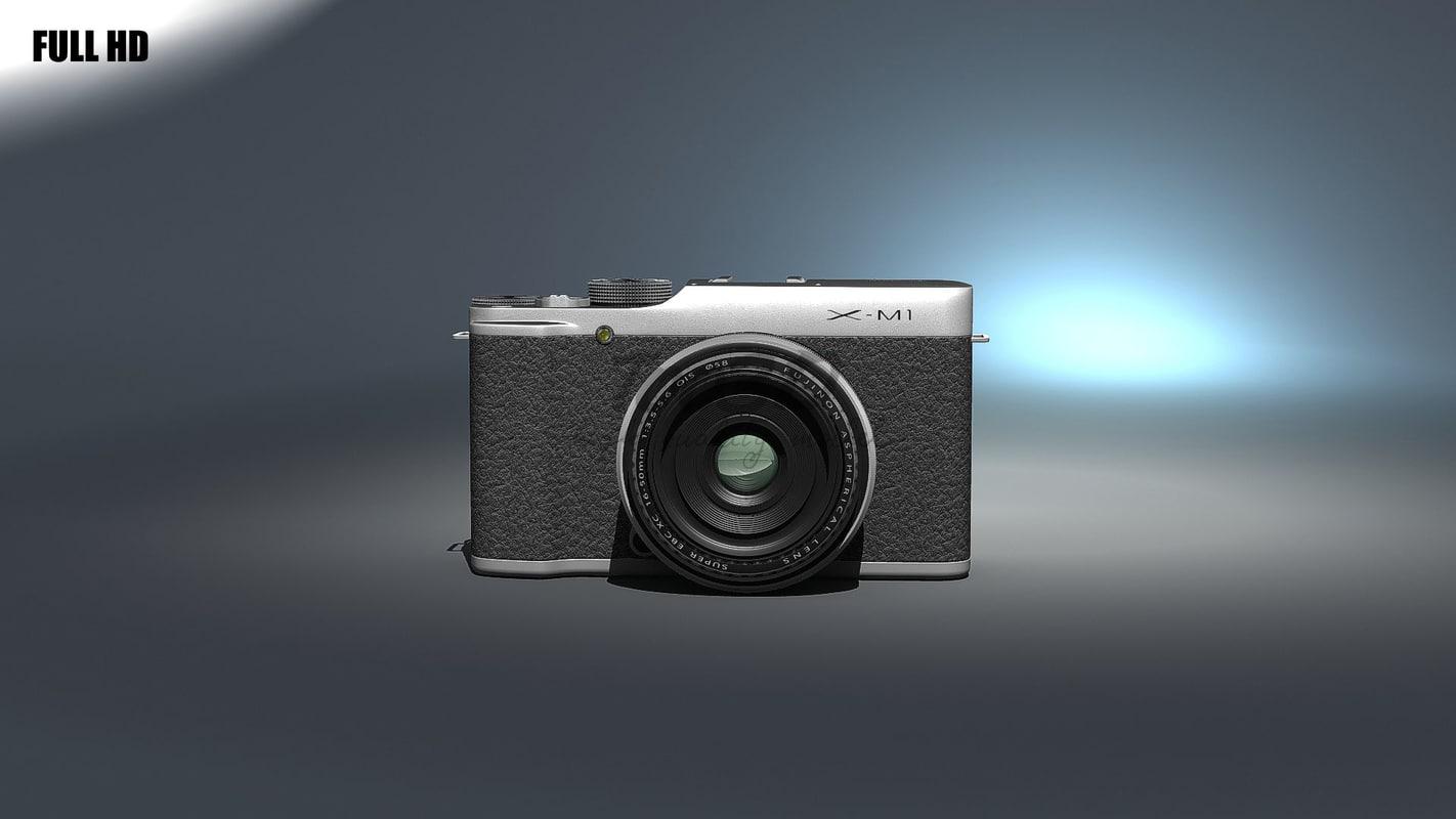 3d model fujifilm mirrorless