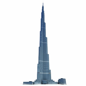 3d model accurate burj khalifa