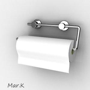 3d paper towel holder model