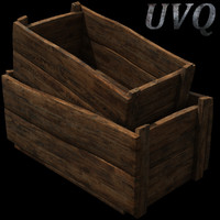 3d crates model