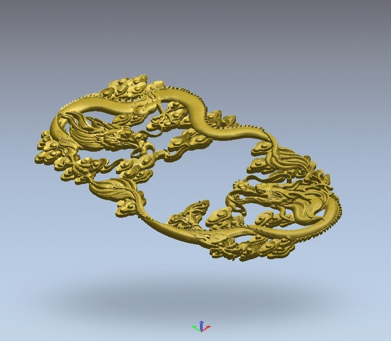3d dragon tea relief