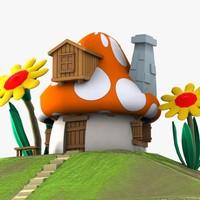 Mushroom House 3 (Smurfs)