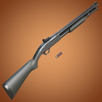 3d model mossberg 590 shotgun ghost-ring