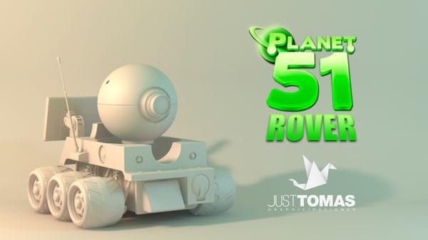 3d model planet rover