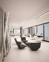 3d model minimalistic white office design