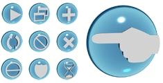max glass multimedia actions iconset