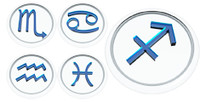 3ds max glass zodiac signs iconset