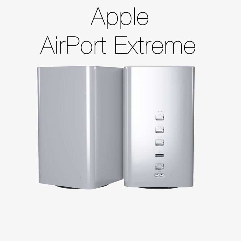 3d model of apple airport extreme 2013
