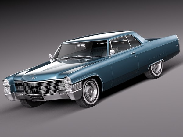 3d 1965 antique luxury cadillac eldorado