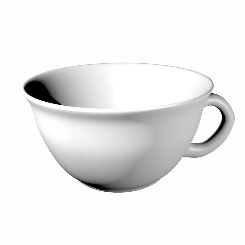 3d model of ceramic restaurant coffee cup