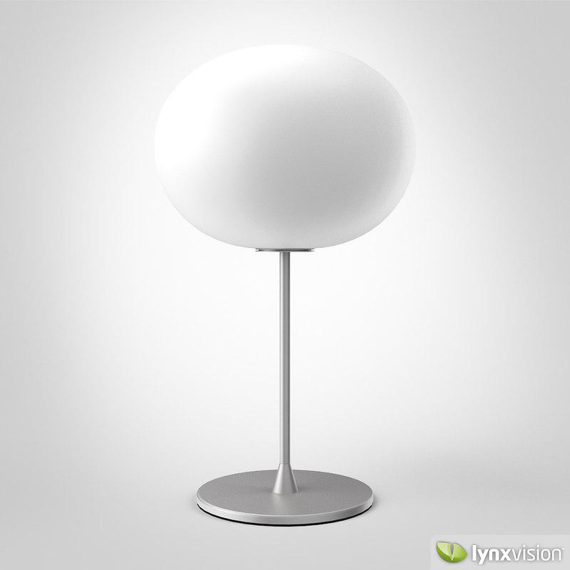 3d glo ball table lamp model