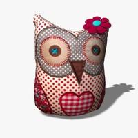 3d toy owl model