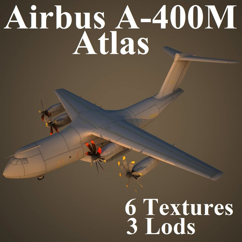 3d model airbus a400m