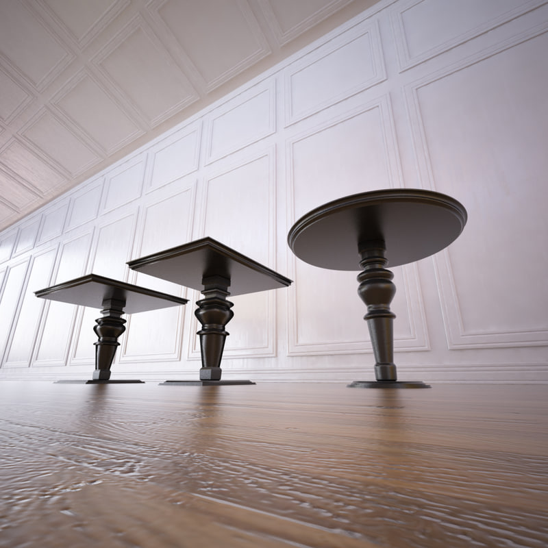 classic dining tables 3ds