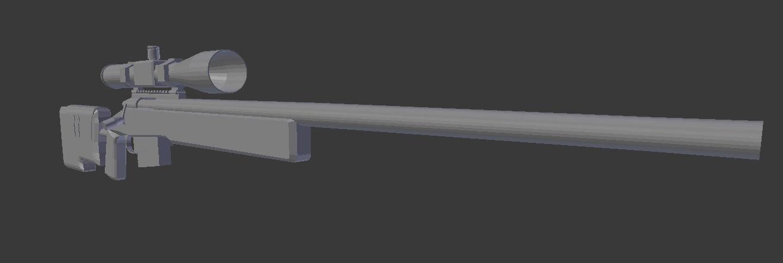 3d model m40 sniper rifle