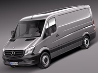 3d mercedes sprinter short 2014 model