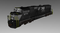 3d model norfolk southern emd sd60m