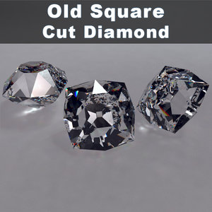 old square cut diamond 3d 3ds