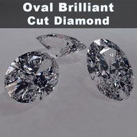 3ds max oval brilliant cut diamonds