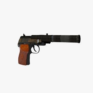 3d model pb 6p9 silenced pistol