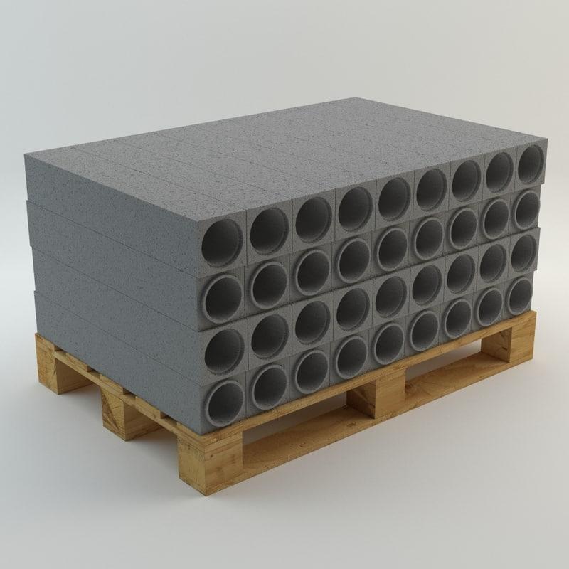 pallet construction elements 3d 3ds