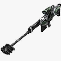 sniper rifle 3d max