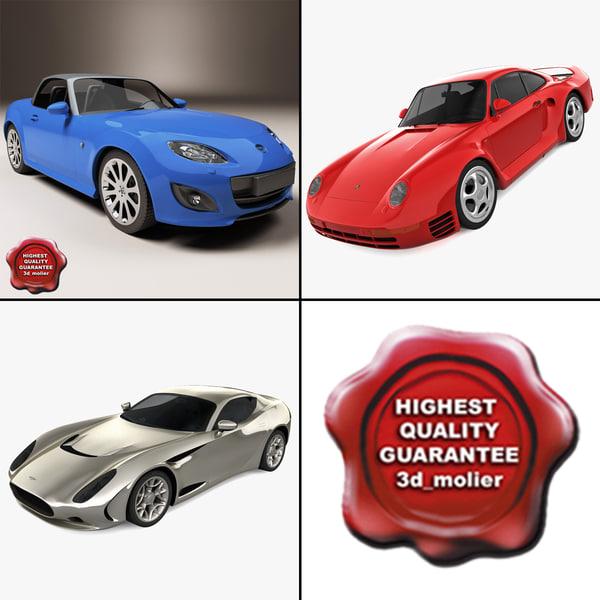 sport cars 4 3d c4d