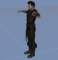 3d celtic character model