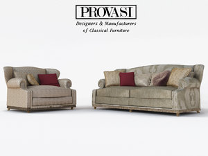 3d max sofa armchair provasi anna