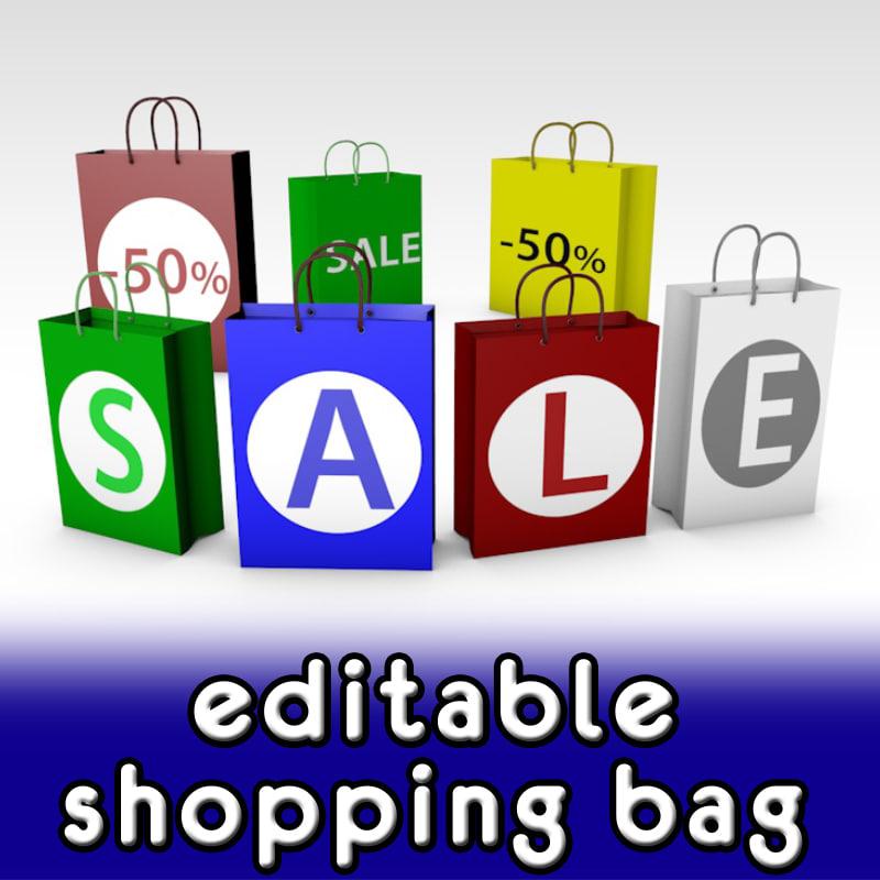 3ds shopping bag