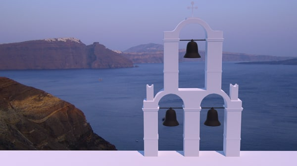 3d model of santorini belltower bells