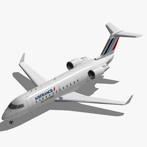 3d model bombardier jet crj-200 air france