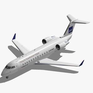 3d model of bombardier crj-200 sas crj