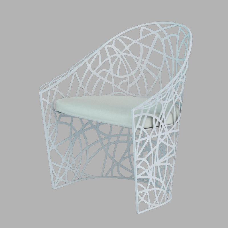3d model of garden armchair castelli