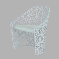 3d model of garden armchair castelli