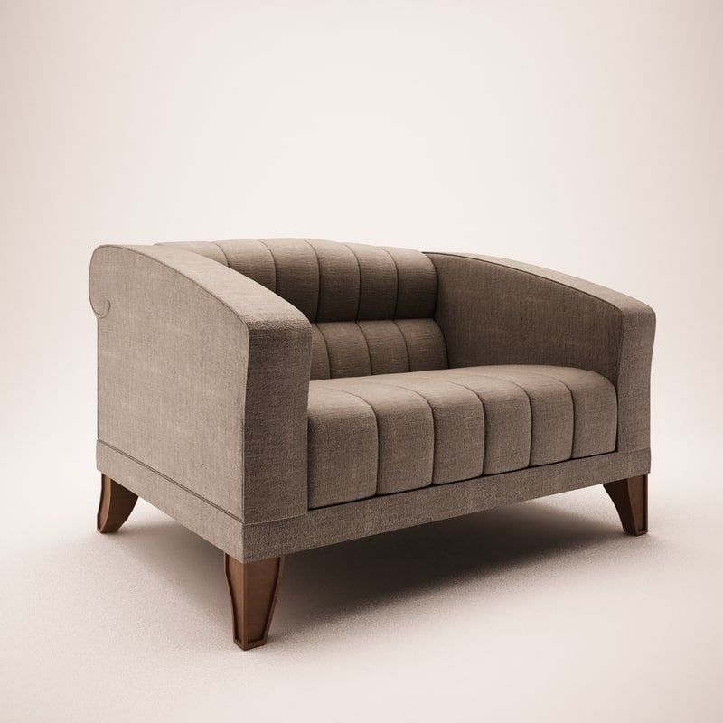 giorgetti armchair 51521 3ds