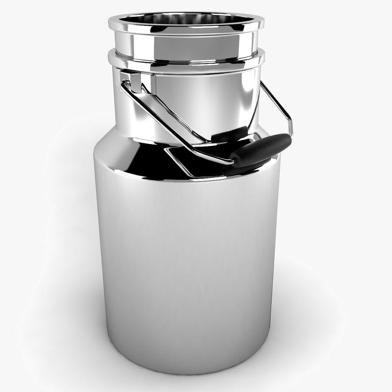 3d milk barrel