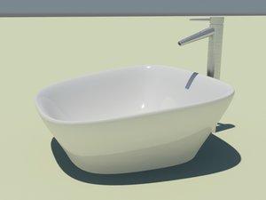 3d washbasin