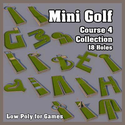 3d model mini golf course 4