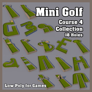 3d model mini golf course 4