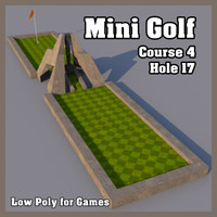 Low Poly Mini Golf Hole C4H17