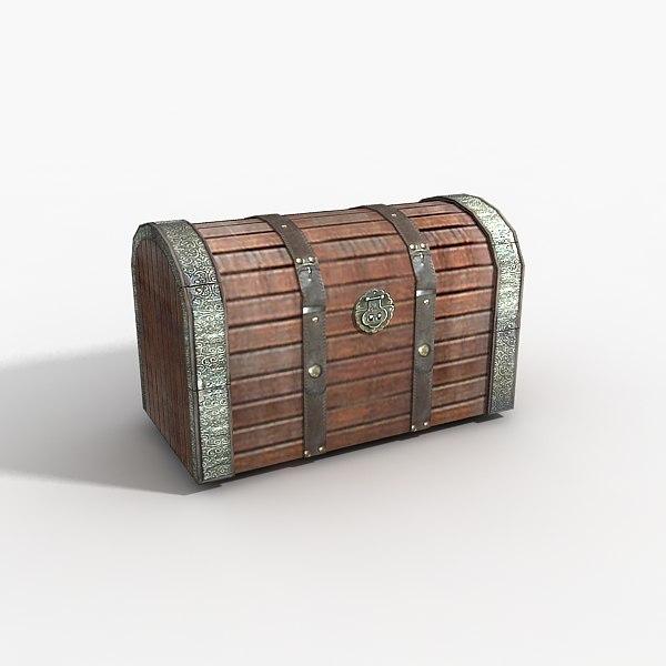 free treasure chest 3d model