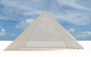 big hexagon pyramid 3d model