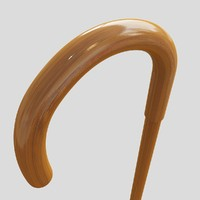3d walking stick wood