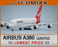 3d model airplane airbus a380 qantas