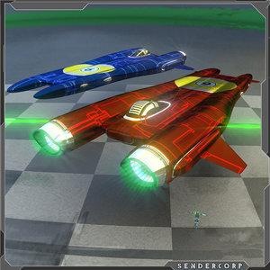 racer spaceship blend