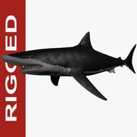 c4d giant shark megalodon